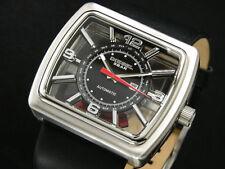 DIESEL Watch Chronograph Black Leather Strap 56x52mm Dz7192