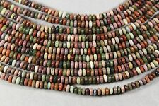 "NATURAL MULTI-COLOR IMPERIAL JASPER 2x4MM RONDELLE BEADS 16"" STRAND"