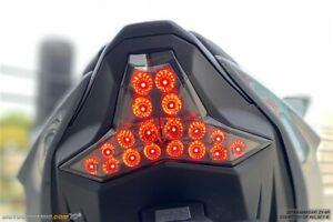 Fits 2019-2021 Kawasaki Ninja ZX-6R SEQUENTIAL Turn Signal LED Tail Light SMOKED