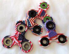 4 American US Flag Pocket Gear Gyro EDC ADHD Autism Fidget Spinner 3D Focus Toy