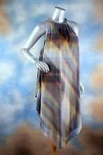 NEW $119 Rachel Rachel Roy Printed Handkerchief-Hem Dress Multi Combo L