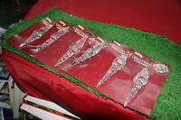 Christmas Tree Decorations Set Of 6 Large Father Christmas Icicles NEW