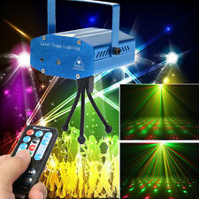 Blue 10W Mini Effect Party DJ Club Stage laser Projector Light Show+Remote