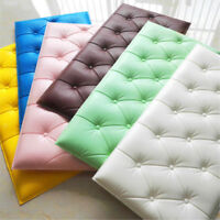 3D Thick PE Foam Self-adhesive Wall Sticker Panels Background Protective Decals