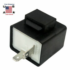 US 2 Pin Electronic LED Turn Signal Flasher Relay Fix For Light Fast Hyper Flash