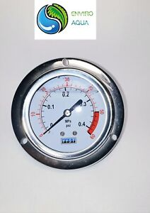 "Water and Air Pressure Oil Gauge New 1/4"" Brass BSPT Thread 60 / 150 / 300 PSI"