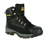 Amblers FS987 Black Waterproof Metatarsal Safety Work Boot |6-13|