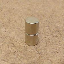 2 Neodymium Cylindrical (1/4 x 1/4) inch Cylinder/Disc Magnets.