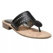 NWOT Size 6.5 Sam & and Libby Tibby Whip Stitch Black Thong Sandals