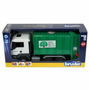 1/16 MAN TGS Rear Loading Garbage green by Bruder NEW IN BOX 03763
