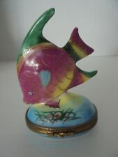 Limoges Trinket Box Tropical Fish Vintage