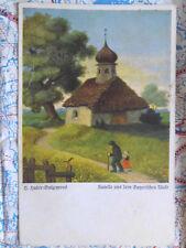 Kapelle Bayerischer Wald Gemälde Kunstwerk Postkarte Ansichtskarte 3022