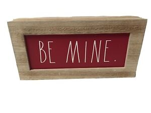 "Rae Dunn Valentines Day ""Be Mine"" Red Wooden Sign"