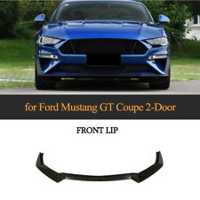 Carbon Fiber Front Bumper Lip Spoiler Body Kit Refit Fit for Ford Mustang 18-19