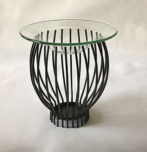 Metal Oil Burner Glass Dish For Tealight Holder Aromatherapy and wax Melts