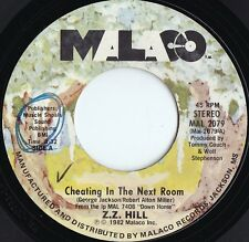 ZZ Hill ORIG US 45 Cheating in the next room NM '82 Malaco MAL2079 Soul Blues