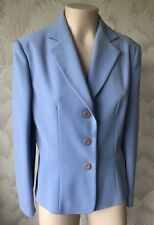 "TRUE VINTAGE 1980'S SIZE 14 LIGHT BLUE JACKET CREPE POLYESTER 40"" CHEST QUALITY"
