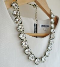 Clear Crystal Shinny Statement Necklace Bib Bridesmaid Necklace J crew inspired