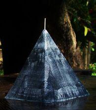VANILLA CARAMEL & TONKA BEAN Black Charcoal PYRAMID Silver Crystals Candle 150hr