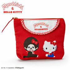 SANRIO HELLO KITTY & MONCHHICHI SERIES TISSUE COSMETIC MAKEUP BAG CASE 324302
