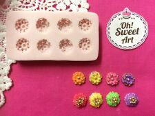 Lots of Mini Flowers Silicone Mold Food Cake decoration soap cupcake topper FDA