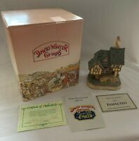 "SIGNED David Winter Cottages ""Swan Upping Cottage"" 1992 w/ COA & Box Christmas"
