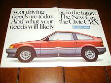 1983 HONDA CIVIC CRX  ***ORIGINAL 2 PAGE AD***