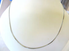 Stainless Steel Unisex Solid Box Chain Necklace 18 long