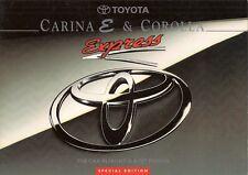 Toyota Corolla & Carina E Express Limited Edition 1994 UK Market Sales Brochure