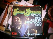 """7"""" JAMES BROWN DOWN AND OUT IN NEW YORK CITY MAMA'S DEAD ITALY 1973 N/MINT-MINT"""