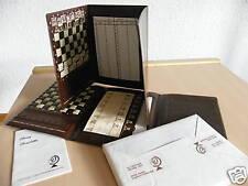 CHESSY Reiseschachspiel im Brieftaschenformat  ~ Kunststoff braun 16,5 x 11,7 cm