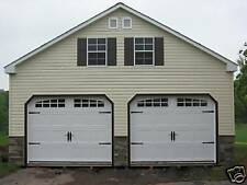 AMISH 24x24 DOUBLE WIDE 2 STORY VINYL GARAGE SHED NEW!!
