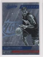 2015-16 ALLEN IVERSON #/999 PANINI ABSOLUTE BASKETBALL 76ERS