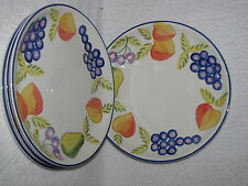 4 Artist's Touch Orchard Jubilee Grapes Pear Fruit dinner plates