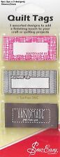 VAT Free Sew Easy Personalise Quilt Tags Handmade Just For You, By, For ER992