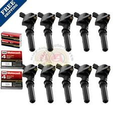 10 pack Ignition Coil DG508 Motorcraft Spark Plug SP479 For Ford Lincoln Mercury