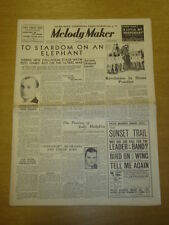 MELODY MAKER 1936 MAR 14 HOWARD JACOBS ANDY HODGKISS LEW STONE BIG BAND SWING