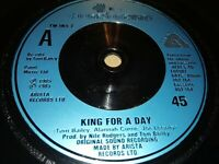 """THOMPSON TWINS * KING FOR A DAY * 7"""" SINGLE EXCELLENT 1985"""