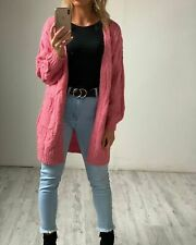 HQ The Label Women's Cosy Knit Cardigan - Bubblegum Pink Super Soft Comfortable