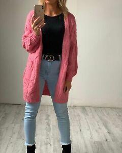 HQ The Label Women's Cosy Knit Cardigan - Bubblegum Pink Super Soft Comfortable