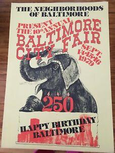 Happy 250th Birthday Baltimore City Fair Poster 1979