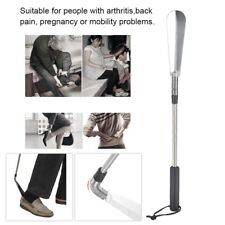 Telescopic Shoe Horn Extra Long Handled Extendable Stainless Steel Collapsible