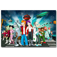 Futurama Cartoon All Characters Anime Art Silk Poster 13x20 24x36 inch 015