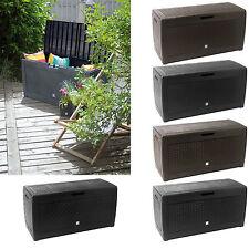 Auflagenbox Kunststoff 120cm Truhe Box Kissenbox Werkzeug Geräte Box Gartentruhe