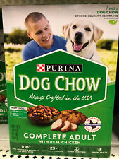 Purina DOG CHOW Complete Adult Dog Food (Real Chicken) 1lb box, 16oz, 454g NEW