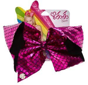 JoJo Siwa Large Pink Mermaid Signature Bow Dance Cheer Hair Clip NWT