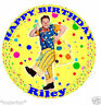 """MR TUMBLE PERSONALISED 1 x Round 7.5"""" / 20 x 2"""" Edible Cake Topper Rice Paper"""