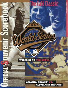 1995 World Series Official MLB Program Atlanta Braves Vs Cleveland Indians 80069