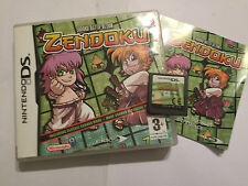 NINTENDO DS DSL DSi GAME Sudoku Battle Action Zendoku +BOX INSTRUCTION COMPLETE