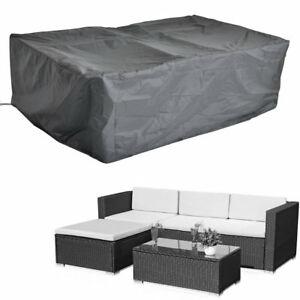 Lounge set Sofa Schutzhülle L-förmig Regenschutz Möbel Abdeckung Abdeckhaube